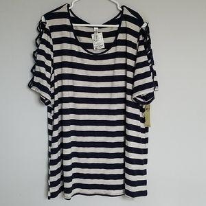 Lattice Sleeve T-Shirt